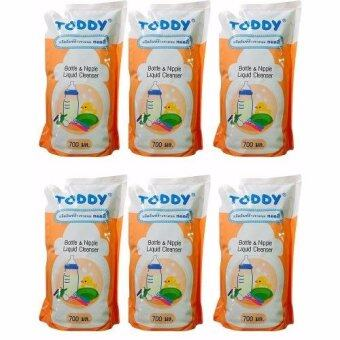 Toddy Baby น้ำยาล้างขวดนม ชนิดเติม 700 ml. (x 6 ถุง)