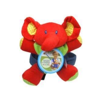 เป้จูงและสายจูงเด็กตุ๊กตาช้างสีแดง