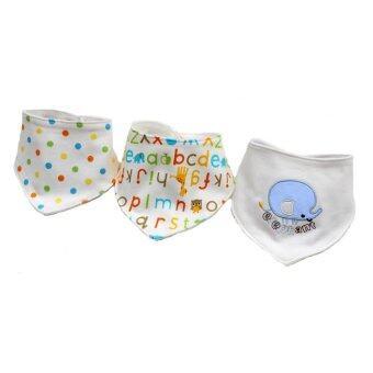 Baby ผ้ากันเปื้อนผ้า สามเหลี่ยม set 3 ผืน รุ่น 104