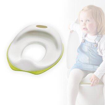 Mustme ฝาชักโครกเด็ก ฝารองนั่งชักโครกเด็ก /ขาว-เขียว