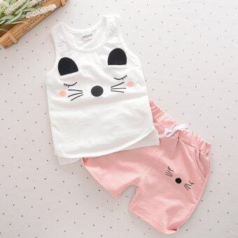 Harga Bear Fashion Baby Sweet Boys Girls Mouse Clothing Kids Summer Clothes 2pcs Set Suit - intl