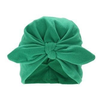 Harga Baby Soft Cotton Knot Hat Rabbit Ears Stretchable Cap Beanie - intl