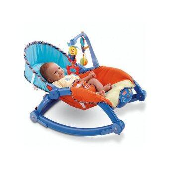 PLAY ARAI เปลสั่นอัตโนมัติ และสามารถไกว เป็นเก้าอี้นั่งได้ (สีฟ้า)