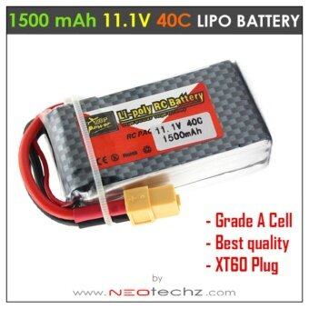 Harga 11.1V 3S 1500mAh 40C XT60 Rechargeable RC Lipo Battery for Quadcopter Multirotor Drone