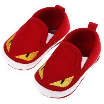 เด็กทารกเล็ก ๆ ใต้รองเท้ายักษ์สีแดง - Intl