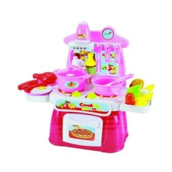 Little Pumpkin ของเล่นเสริมพัฒนาการ บทบาทสมมุติ Kitchen Play Set ชุดครัวจำลอง พร้อมอุปกรณ์ 22 ชิ้น