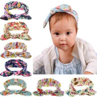 Harga Baby lily Bear Fashion 8pcs Baby Girls Headbands Head Wrap Knotted Hair Band - intl