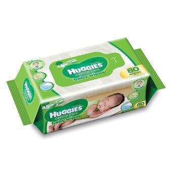 ขายยกลัง! Huggies Baby Wipes 80 แผ่น 12 แพ็ก ผ้าเช็ดทำควาสะอาดผิว ฮักกี้ส์ เจนเทิล แคร์ เบบี้ ไวพ์ (image 1)