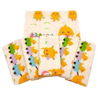 Baby heart ผ้าอ้อมสาลูญี่ปุ่น 27'' แพ็ค 6 ผืน (ลายลูกไก่)
