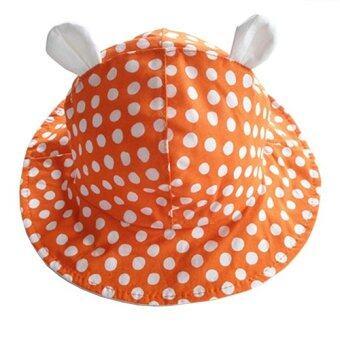 Baby Touch หมวกเด็ก ปีกรอบลายจุด (ส้ม)