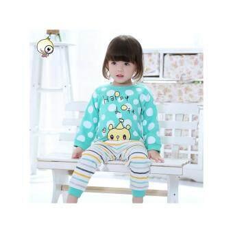 ชุดนอนกันหนาวเด็ก ชุดเสื้อกางเกง รุ่นผ้าหนา ความสูงเด็ก 80 - 120 cm