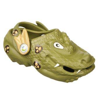 รองเท้าเด็กแบบรัดส้น Polliwalks - Drake the Dragon