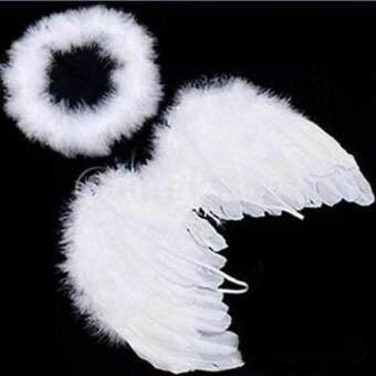 ได้แก่ เฉียวปีกนางฟ้าเด็กทารกชุดประกอบขนนกนางฟ้าขาว