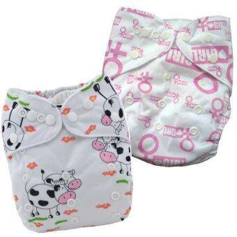 BABYKIDS95 กางเกงผ้าอ้อมกันน้ำ รุ่นดีลักส์ ไซส์เด็ก 3-16กก. เซ็ท 2ตัว แบบที่ 33