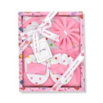Babybrown Giftset กล่อง สำหรับเด็กแรกเกิด ชุด 4 ชิ้น สีชมพู