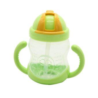 Harga ZigZagZong 280ml Sippy Cups With Handles Baby Straw Cup Drinking Bottle Children Cup Green - intl
