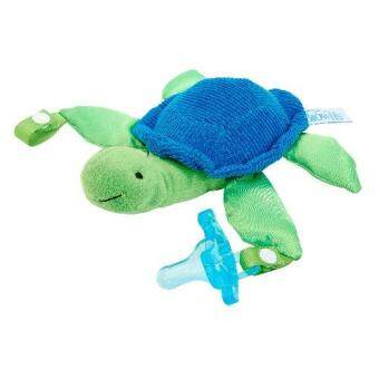 Dr.Brown'sจุกหลอกTurtle Lovey with Blue One-Piece Pacifier(Blue)