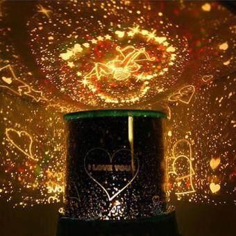 leegoal Romantic Auto Rotate Cupid Sky Star LED Night Light Projector Lamp With Music Random Color Star Master