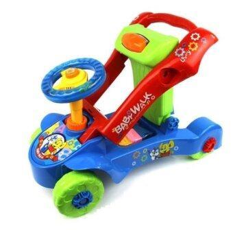 PlayToys ขาไถ+ผลักเดิน เปลี่ยนหน้าได้ Multifunction Baby Walker (ปรับหนืดได้) น้ำเงิน