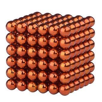 i win innovation ลูกบอลแม่เหล็กแรงสูง Neodymium ขนาด 5mm. 216 ลูก (สีส้ม)
