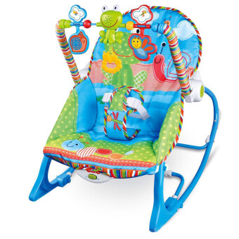 Morestech เปลโยก-สั่น มีเสียงเพลง ibaby Infant-to-toddler Rocker ลายแมลงปอ สีฟ้า