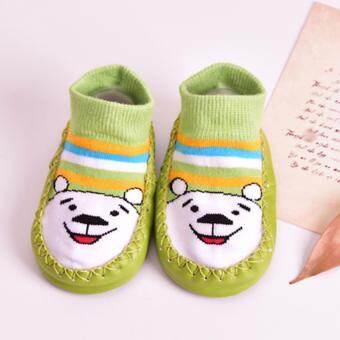 Baby Touch ถุงเท้าเด็ก หุ้มข้อ หัดเดิน (หมีภู)