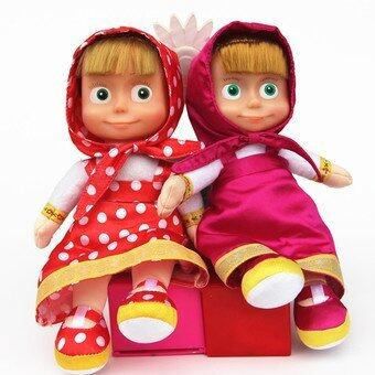 Harga Russian Masha and Bear plush Dolls Baby Children Best Stuffed & Plush Animals Gift Russia Unique Gifts no battery - intl