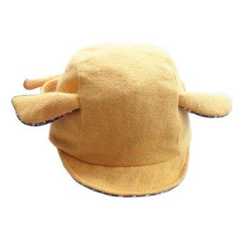 Baby Touch หมวกเด็ก ผูกปิดหู กวางน้อย (เหลือง)