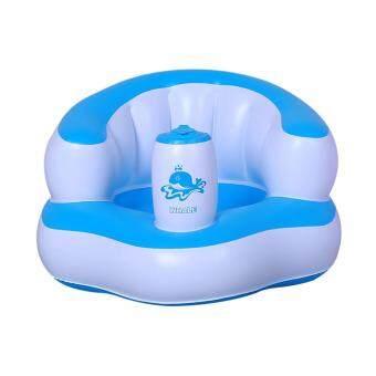 baby_kidsonline เก้าอี้หัดนั่งเป่าลม Baby Chair - สีฟ้า