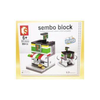 ชุดตัวต่อเลโก้ Sembo block ในชุดร้านสะดวกซื้อ 7 11 [89 PCS}