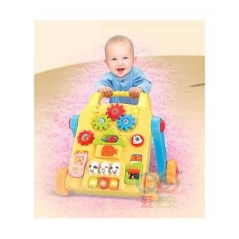 Minlane Kids Yellow Baby's Action Walker รถหัดเดินดนตรี + โต๊ะกิจกรรม สีเหลือง