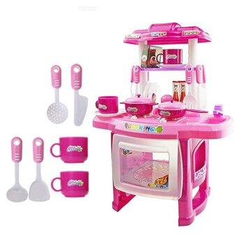 Harga 2015 NEW Beauty Kitchen Cooking Toy Play set for Children and parents(Pink) - Intl