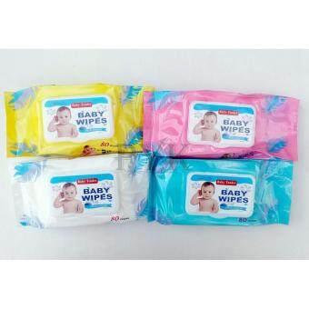 Baby Tender baby wipes ผ้าเช็ดทำความสะอาดสำหรับเด็ก 80 ชิ้น (4 ห่อ)