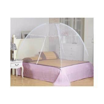 มุ้งกันยุง คลุมเตียง ขนาด 1.8เมตร สำหรับเตียง 6 ฟุต - สีขาว
