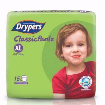 Drypers ผ้าอ้อมสำหรับเด็ก รุ่น Classicpantz XL 15 ชิ้น