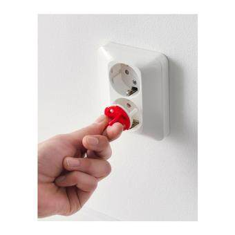 อุปกรณ์เพื่อความปลอดภัย ปลั๊กนิรภัย ป้องกันไฟดูด สีขาว 12ชิ้น(Me Time)