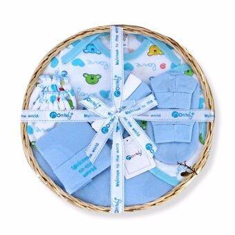 Babybrown Giftset ตะกร้า สำหรับเด็กแรกเกิด ชุด 9 ชิ้น สีฟ้า