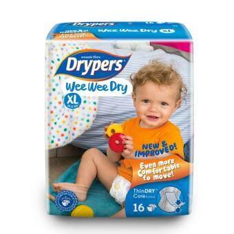 Drypers ผ้าอ้อมสำหรับเด็ก รุ่น WWD XL16 ชิ้น