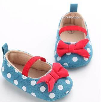 รองเท้าหัดเดิน รองเท้าเด็กอ่อน รองเท้าเด็กพื้นผ้า baby shoe Prewalker ของใช้เด็กอ่อน รองเท้าทารก รองเท้าเด็กเล็ก รองเท้าบูทเด็กอ่อน สีน้ำเงิน พลาสเทล