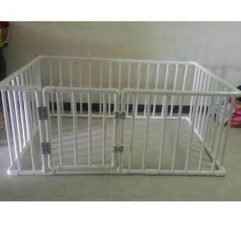 คอกกั้นเด็ก SG005 สีขาว ขนาด 100x150x65 (มีประตู)