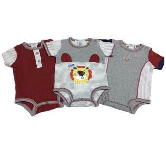 LITTLE BABY M เสื้อผ้าเด็กเล็ก บอดี้สูท set หมีสีเทา 3 ตัว