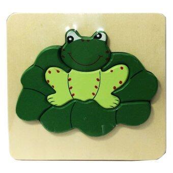 ของเล่นไม้เสริมพัฒนาการสำหรับเด็ก จิ๊กซอว์ไม้รูปสัตว์ (ลายกบ) Wood Toy Jigsaw Frog for Kids