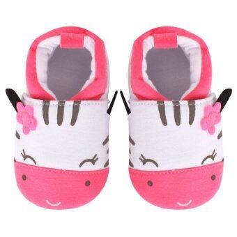 แมวน้อยนอนรองเท้าพื้นรองเท้านุ่มพิมพ์ (สีชมพู)