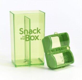 Snack in the box กล่องเก็บขนมสีเขียว