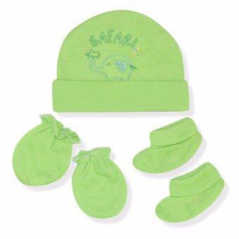 Babybrown ชุดเซ็ท หมวก ถุงมือ และถุงเท้า สีเขียว