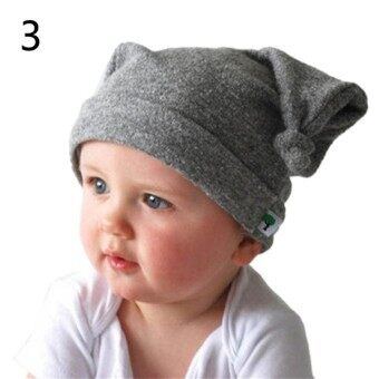 Harga Chic Unisex Baby Cap Beanie Boy Girl Toddler Infant Children Cotton Cute Hat Color3 - intl