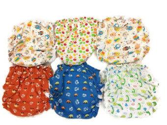 Babybear กางเกงผ้าอ้อมเด็ก ซักได้ - คละสี (แพ็ค 6 ชิ้น)