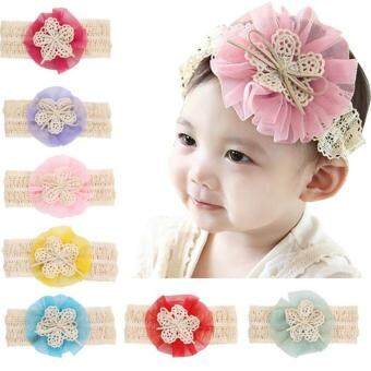 Harga Bear Fashion Baby Girls Headband Head Floral Elastic Hair Band - intl