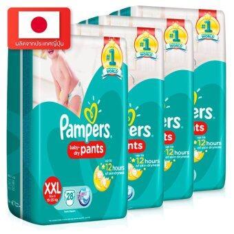 ขายยกลัง! Pampers ไซส์ XXL แพ็ค 4 กางเกงผ้าอ้อมเด็ก แพมเพิร์ส รุ่น Baby Dry Pants รวม 112 ชิ้น (image 1)