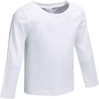 เสื้อยืดแขนยาวสำหรับเด็กเล็ก (สีขาว)